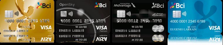 Tarjetas de Crédito y Débito Bci
